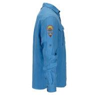 Bilde av Amundsen Safari Linen Shirt Garment Dyed  Azure Blue